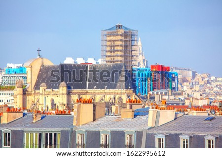 Parisian Rooftops in the daytime #1622995612