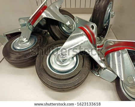 Wheels for furniture. Furniture fittings #1623133618