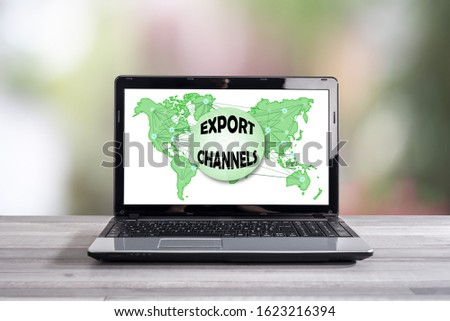 Export channels concept shown on a laptop screen #1623216394