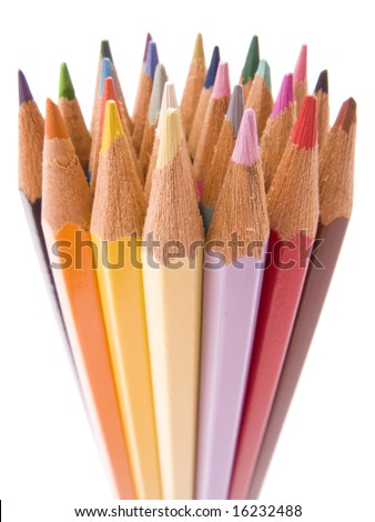 Color pencils collection with colors mixed #16232488