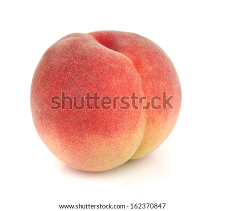 Japanese peach isolated on white #162370847