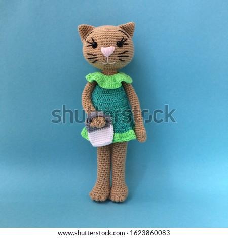Crochet Kitty Cat Toy Amigurumi Kitty Cat Toy Stuffed Kitty Cat #1623860083