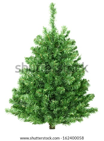 Christmas tree isolated over white background. Noel. #162400058