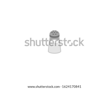 Salt vector flat icon. Isolated salt shaker emoji illustration Royalty-Free Stock Photo #1624170841