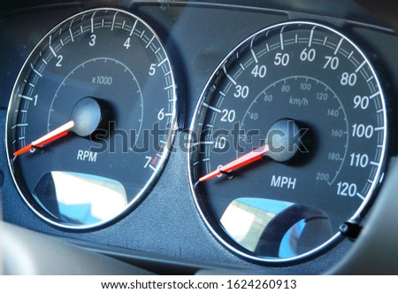 dashboard of speed and engine speed #1624260913