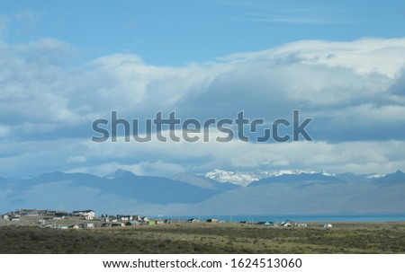 Patagonian Landscape of El Calafate, Andes Mountain Range and the Argentino Lake. #1624513060