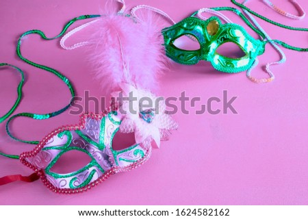 Carnaval masks used in Brazil and Veneza festivals