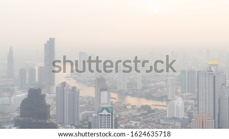 Bangkok City Thailand air pollution remains at hazardous levels PM 2.5  pollutants - dust and smoke high level PM 2.5 #1624635718