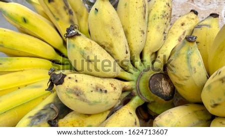 Yellow ripe banana is ripe to eat. #1624713607