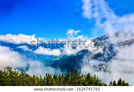 Mountain peak clouds blue sky. Mountain clouds. Mountain clouds sky. Mountain sky clouds #1624741762