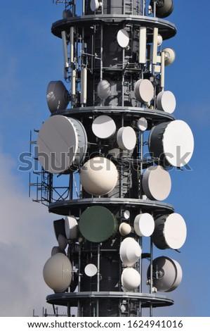 mast radio tower antenna television mast radio relay #1624941016