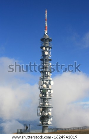 mast radio tower antenna television mast radio relay #1624941019
