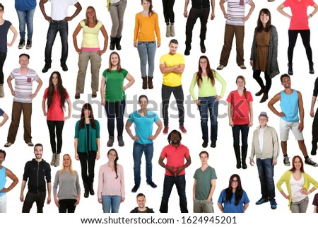 Group of young people background smiling happy multicultural multi ethnic isolated on a white background #1624945201