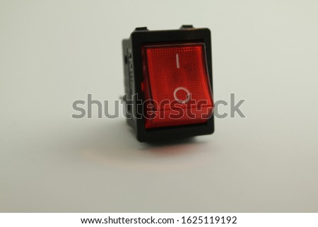 Red switch on button , on off button #1625119192