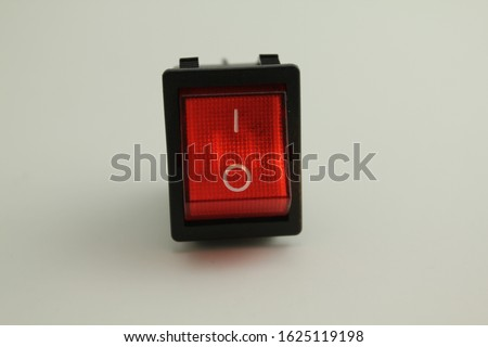 Red switch on button , on off button #1625119198