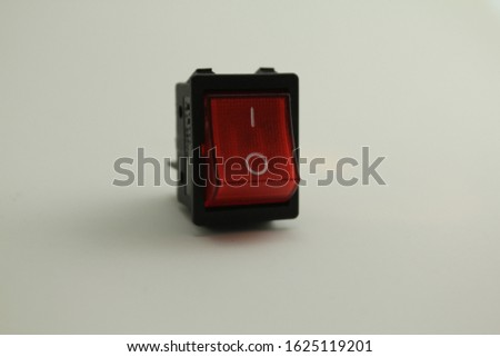 Red switch on button , on off button #1625119201