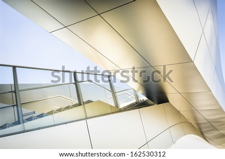 modern staircase and bridge at an office building in vienna #162530312