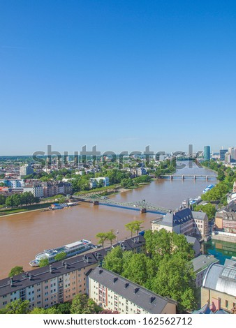 Aerial view of the city of Frankfurt am Main in Germany #162562712