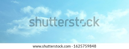 Blue sky with white cloud. Blue background. The summer sky is colorful clearing day and beautiful nature in the morning. for backdrop decorative and wallpaper design. The perfect sky background. #1625759848