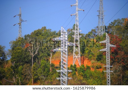 electricity post.High voltage.Electricity generation.Electricity for people. #1625879986