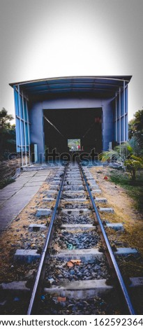 railway track and railway shed #1625923642