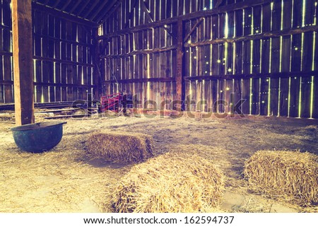 Inside the old barn  #162594737