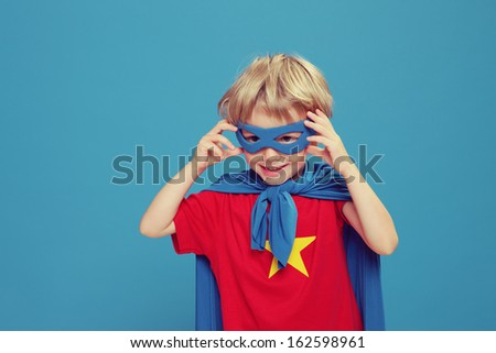 A little superhero ready to save the world #162598961