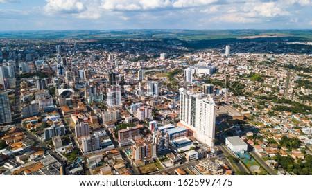 Ponta Grossa - PR. Aerial view of Ponta Grossa city - Paraná - Brazil #1625997475