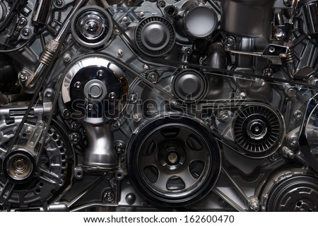 A fragment of the engine Royalty-Free Stock Photo #162600470