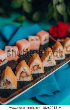 Two different Sushi rolls on same set #1626201319