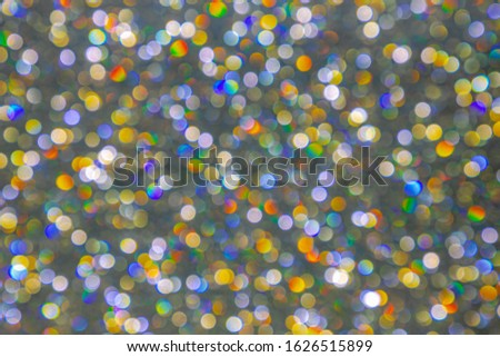 Picture of coloured blur spot bokeh, Out of focus photo of light leaks, Abstract background.