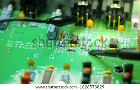 Closeup on Electronic device and electronic board, background #1626573829