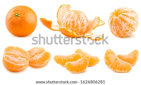 mandarin, tangerine, isolated on white background, clipping path, full depth of field Royalty-Free Stock Photo #1626806281