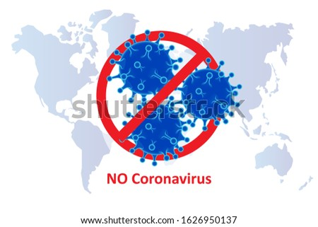 China battles Coronavirus outbreak. Coronavirus 2019-nC0V Outbreak, Travel Alert concept. The virus attacks the respiratory tract, pandemic medical health risk #1626950137
