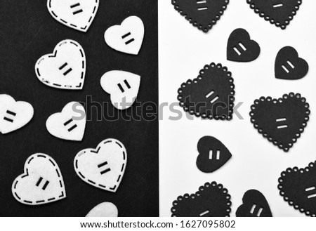 Texture with hearts close up. Traditional attributes of valentines day. Be my valentine. Lovely background. Decoration heart background. Love symbol valentines day. Valentines day holiday celebration. #1627095802