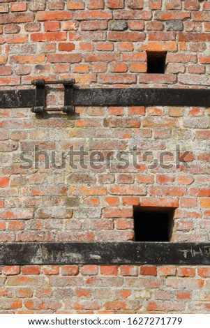 A closeup of an old stone furnace which is out of order #1627271779