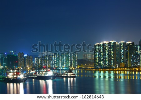 City in Hong Kong at night #162814643