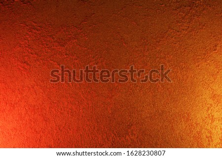 Vintage orange-brown for design background. Bright backdrop. Art plaster. Illuminated surface. Abstract image. Bitmap image.e. Bitmap image. #1628230807
