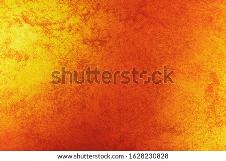Vintage orange-brown for design background. Bright backdrop. Art plaster. Illuminated surface. Abstract image. Bitmap image.e. Bitmap image. #1628230828