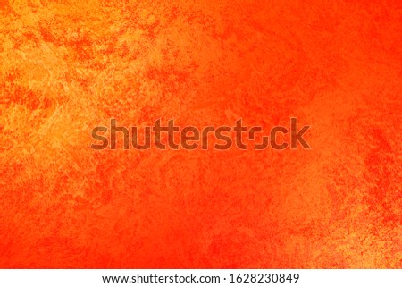 Vintage orange-brown for design background. Bright backdrop. Art plaster. Illuminated surface. Abstract image. Bitmap image.e. Bitmap image. #1628230849