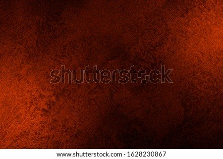Vintage orange-brown for design background. Bright backdrop. Art plaster. Illuminated surface. Abstract image. Bitmap image.e. Bitmap image. #1628230867