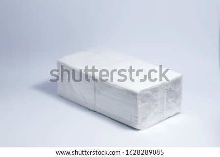 packing napkins on a white background