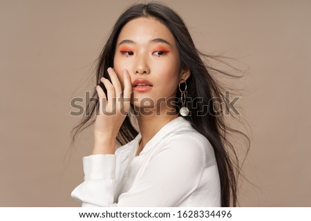 Models of pink eye shadow on the eyelids bright makeup #1628334496