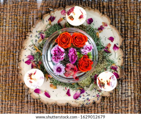 Flower Essences with Crystals and Roses