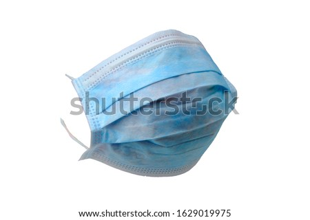 Anti virus surgical face masks. Isolated on white. Element for digital photo montage. Royalty-Free Stock Photo #1629019975