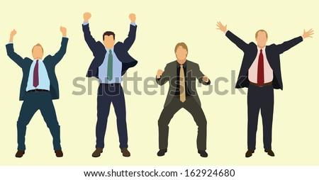Happy Businessmen Celebrating #162924680