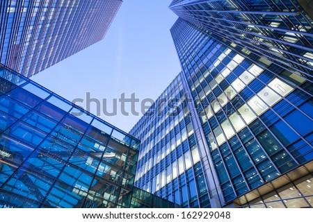 Windows of Skyscraper Business Office, Corporate building in London City, England, UK  #162929048