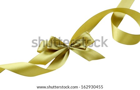 Color gift satin ribbon bow, isolated on white #162930455