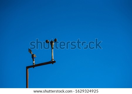 Anemometer with blue sky background in Chiang Mai #1629324925