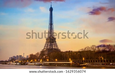 Beautiful of Landmark image at Eiffel Tower is one of the most iconic landmarks in Paris,France #1629356074